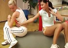 Cindy plus Amber boning..