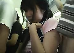 Miniskirt Schoolgirl groped..