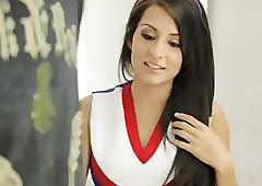 American cute cheerleader