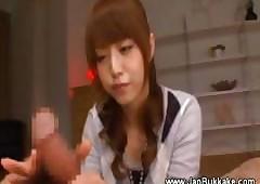 Cute japanese teen alluring act..